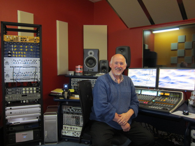 Image of Cliff Blackburn in Soundfield Studio control room