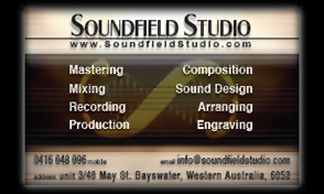 Back of Soundfield Studio business card